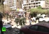 Место одного из терактов в Дамаске. Кадр RT