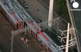 Столкновение поездов между Бостоном и Нью-Йорком. Кадр Euronews