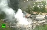 Крушение поезда в штате Мэриленд, США. Кадр RT