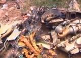 Обломки самолёта в одном из дворов Йемена. Кадр NTDTV
