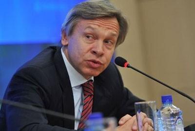 Глава Комитета Госдумы РФ по международным делам Алексей Пушков. Фото: SANA