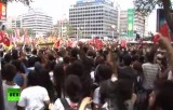 Антиправительственные протесты в Турции. Кадр RT