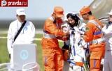 Приземление китайских космонавтов. Кадр Правды.ру