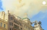 Пожар в Мадридском театре Алькасар. Кадр Euronews