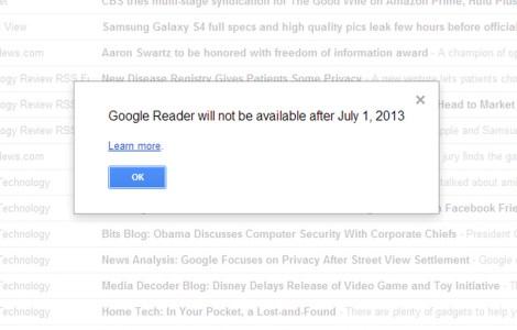 1 июля закроется Google Reader