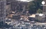 Обрушение здания в Филадельфии. Кадр Euronews