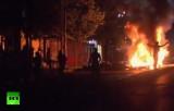 Очередная ночь беспорядков в Анкаре. Кадр RT