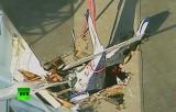 На жилой дом в США рухнул небольшой самолёт. Кадр RT
