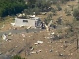 Разрушенное взрывом пиротехники здание в Пескаре, Италия. Кадр Euronews