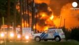 В Канаде взорвался поезд с нефтью. Кадр Euronews