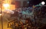 Ночной уличный бой в Каире. Кадр Euronews