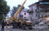 Обрушившийся дом в Барнауле. Кадр РИА Новости / МЧС