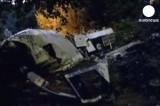 В Италии автобус рухнул с обрыва. Кадр Euronews