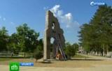 Строительство памятника жертвам наводнения в Крымске. Кадр НТВ