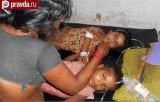 Отравление детей в Индии. Кадр pravda.ru