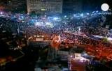 Наводнённая демонстрантами площадь Тахрир в Египте. Кадр Euronews