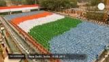67 лет независимости Индии. Триколор в штаб-квартире Конгресса. Кадр Euronews