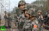 Китайцы на российских военных учениях под Челябинском. Кадр RT