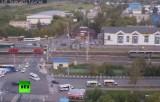 Электричка протаранила автомобиль в подмосковном Щербиново. Кадр RT