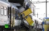 Лобовое столкновение поездов в Швейцарии. Кадр RT
