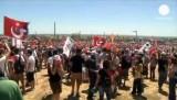 Протест против дела по Эргенекону в Турции. Кадр Euronews