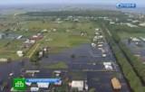 Посёлки Хабаровского края оказались под водой. Кадр НТВ