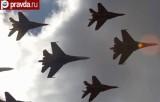 Русские Витязи на авиасалоне МАКС. Кадр pravda.ru
