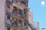 Дом в аргентинском городе Росарио, где взорвался газ. Кадр Euronews
