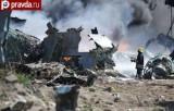 Крушение военного самолёта в Сомали. Кадр pravda.ru