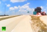 Взрыв грузовика в США. Кадр RT