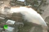 Прорыв водопровода в Рио-де-Жанейро. Кадр RT