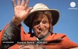 Самый старый человек на планете - индеец племени Аймара из Боливии. Кадр Euronews