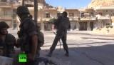 Битва за деревню Маалюля в Сирии. Кадр RT