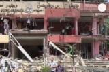Место атаки на главу МВД Египта Мухаммеда Ибрагима в Каире. Кадр Euronews