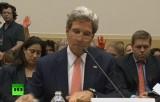 Протест конгрессменов позади Джона Керри. Кадр RT
