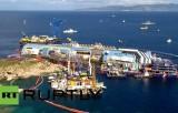 Поднятие круизного лайнера Costa Concordia. Кадр RT RUPTLY