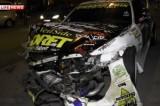 Разрушенная гоночная машина после ДТП в Москве. Кадр LifeNews