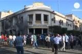 Взорванное министерство иностранных дел в Ливии. Кадр Euronews