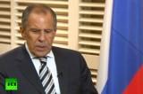 Министр иностранных дел России Сергей Лавров. Кадр RT