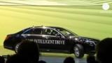 Машина с автопилотом (роботизированное авто) Mercedes S-500 Intelligent Drive. Кадр Euronews