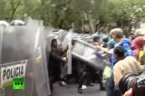 Протест учителей против реформы образования в Мексике. Кадр RT
