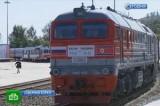 В Северной Корее открыли новую железную дорогу. Кадр НТВ