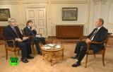 Интервью Владимира Путина «Первому каналу» и Associated Press. Кадр RT