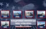 Группировка боевых кораблей США в Средиземном море на начало сентября 2013 года. Кадр RT