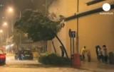 """Тайфун """"Усаги"""" ударил по Гонконгу. Кадр Euronews"""