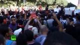Антиправительственная демонстрация в Тунисе. Кадр RT