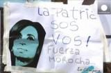 Аргентинцы желают президенту Кристине Киршнер скорейшего выздоровления. Кадр Euronews