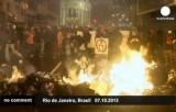 Беспорядки в Рио-де-Жанейро. Кадр Euronews