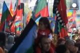 Протест народности мапуче в Чили против отъёма исконных земель. Кадр Euronews