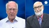 Франсуа Энглер и Питер Хиггс. Кадр Euronews
